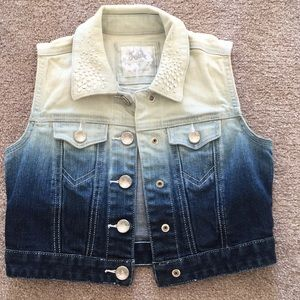 Girls Ombré Denim Jacket